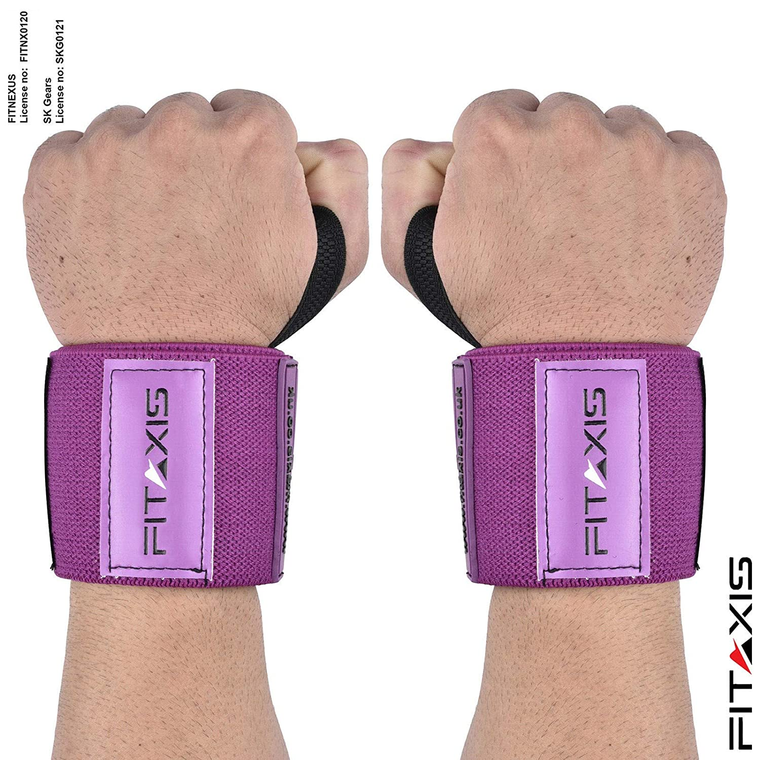 Wrist wraps//Bands for gimnasio fitness Crossfit Weightlifting para hombres y mujeres RED, 24 Mu/ñequeras