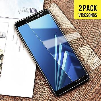 VICKSONGS Protector de Pantalla para Samsung Galaxy A8 2018 ...