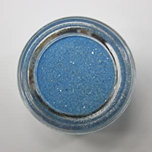Colored Sand - Wedding Sand - Vase Fillers - 8 Ounces (Light Blue)