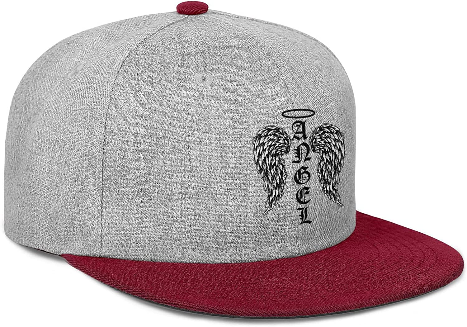 Angel Wings Halo Feathers God Awesome Funny Men Women Wool Cool Cap Adjustable Snapback Beach Hat