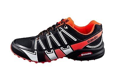 LEKANN Herren Traillaufschuhe für Outdoor und Fitness, Schwarz Orange, Gr.  41 EU fee98075ee