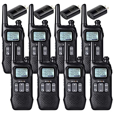 Retevis RT16 Walkie-Talkies for Adult Long Range Rechargeable 2 Way Radio FM FRS Emergency Dual Watch NOAA Flashlight VOX Two Way Radio (8 Pack): Car Electronics