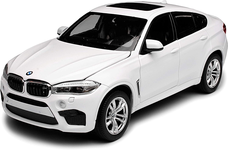B-M-W X6 M F16 SUV Weiss 2 Generation Ab 2014 1//24 Rastar Modell Auto mit individiuellem Wunschkennzeichen