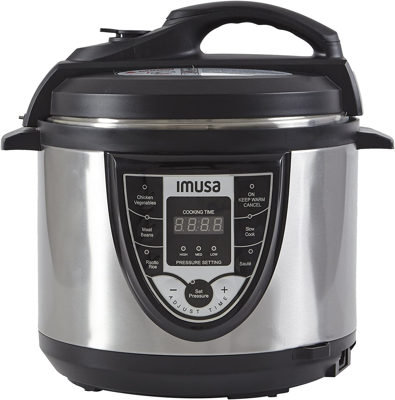 IMUSA USA GAU-80105 5Qt Electric Stainless Steel Digital Pressure Cooker/Multi-use, Silver (Insta-Pot)