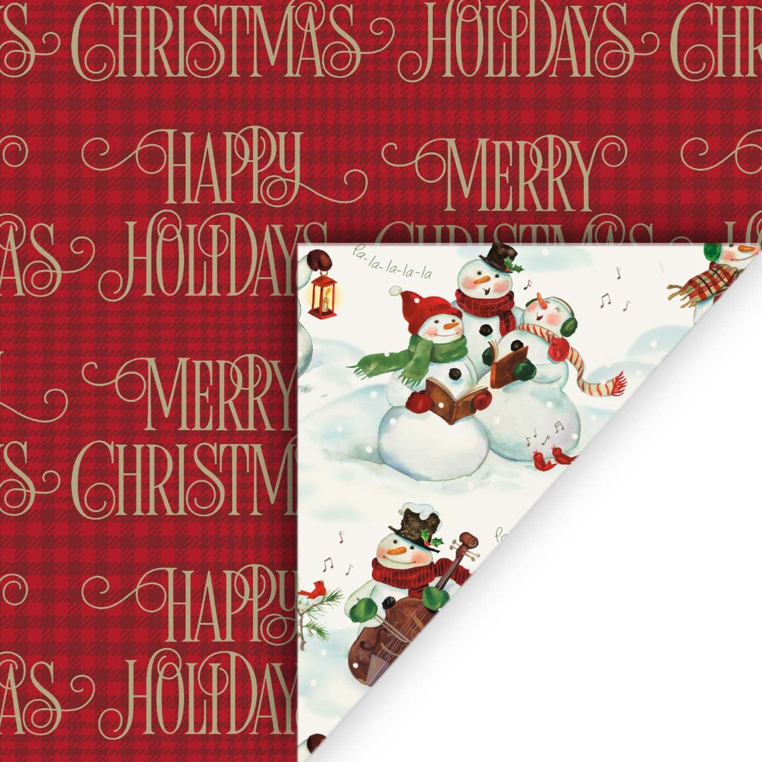 Hallmark Reversible Christmas Wrapping Paper Bundle, Plaid (Pack of 3, 120 sq. ft. ttl.): Kitchen & Dining