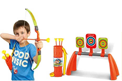 ec6a8a59438 Image Unavailable. Image not available for. Color  Liberty Imports Kids  Archery Bow and Arrow Toy Shooting Set