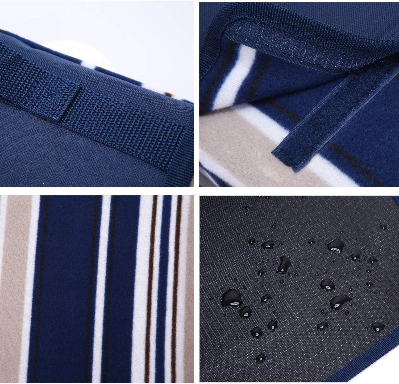 B.L PICNIC Couverture de Pique-Nique imperm/éable /à leau avec Livre de Recettes de Pique-Nique 70 x 80 Bag Bleu