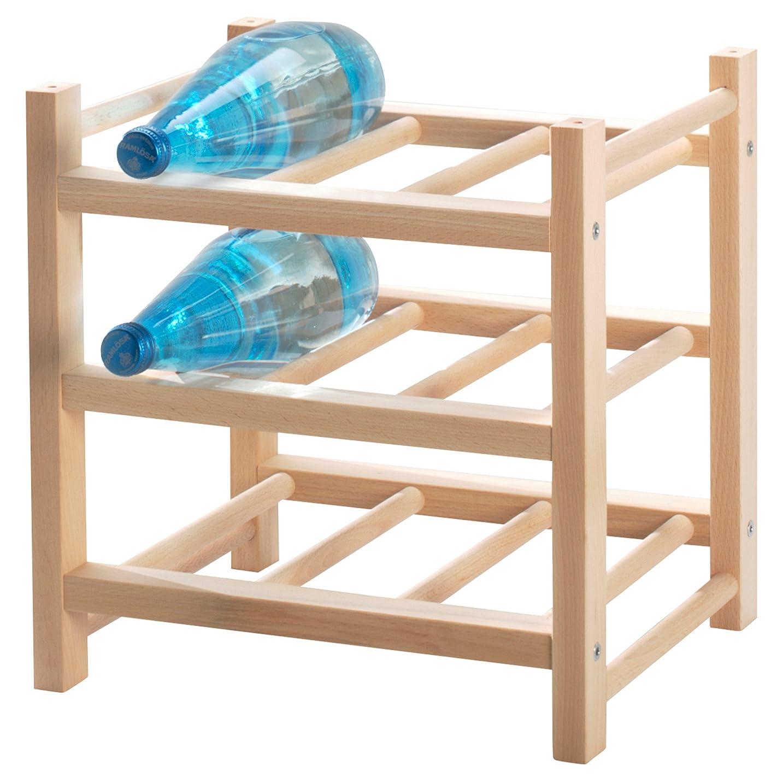 朝食を食べる以来あえぎInterDesign Linus Wine and Water bottle Rack