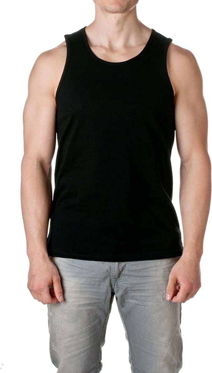 Next Level Apparel New Mens Solid Heather Grey Tank Top Tee Fashion 3633 S-XL