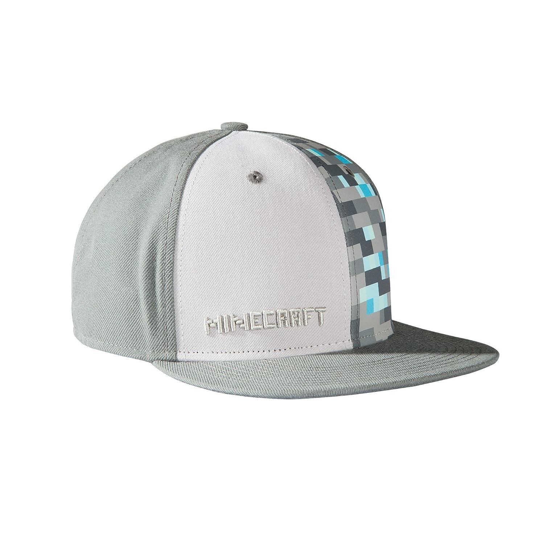 4da946c6225b3 JINX Minecraft Diamond Crafting Snapback Baseball Hat (Gray, One Size)