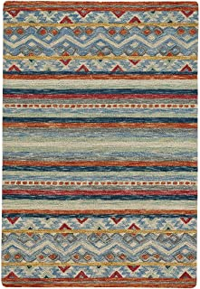 product image for Capel Shakta-Kelim Multitone 9' x 12' Rectangle Hand Tufted Rug