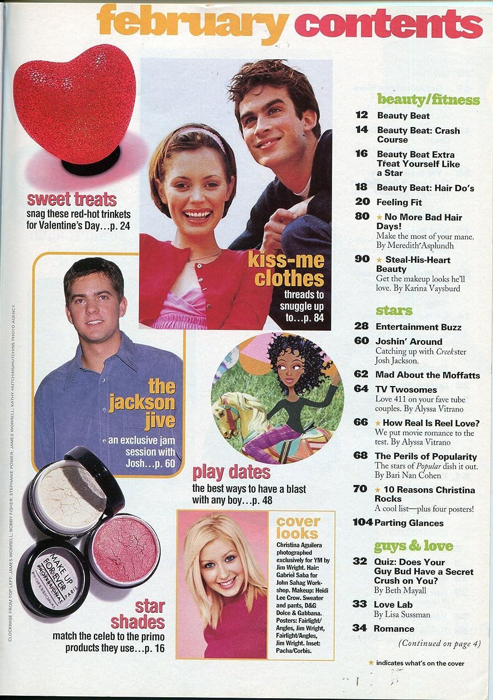 YM Magazine February 2000- Christina Aguilara- Fashion- Beauty