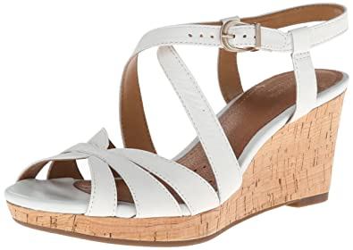 Womens Sandals Clarks Palmdale Rema White
