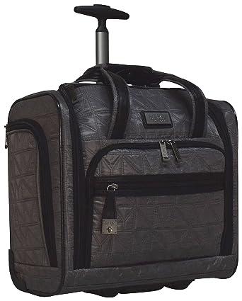 256d3fec97ca Nicole Miller Signature Quilt Under Seat Bag Carry On (Gray)