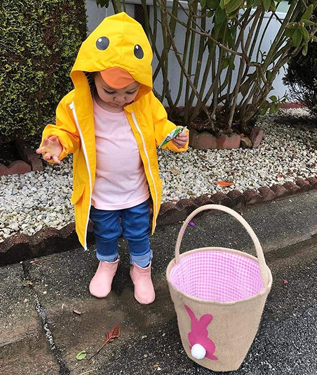 YOUNGER TREE Toddler Baby Boy Girl Duck Raincoat Cute Cartoon Hoodie Zipper Coat Outfit (Yellow, 80) by YOUNGER TREE (Image #3)