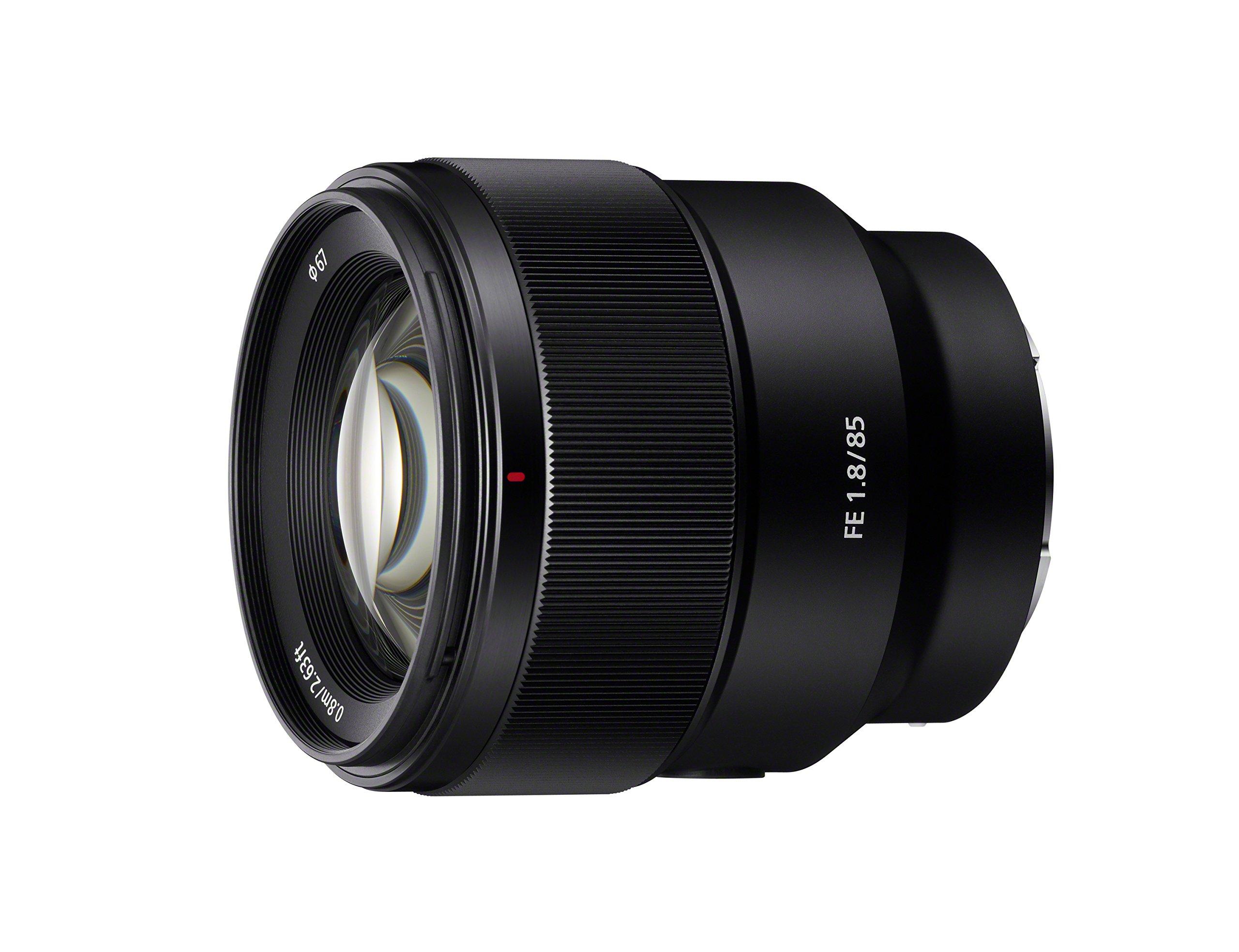 Sony SEL85F18 85mm F/1.8-22 Medium-Telephoto Fixed Prime Camera Lens, Black by Sony