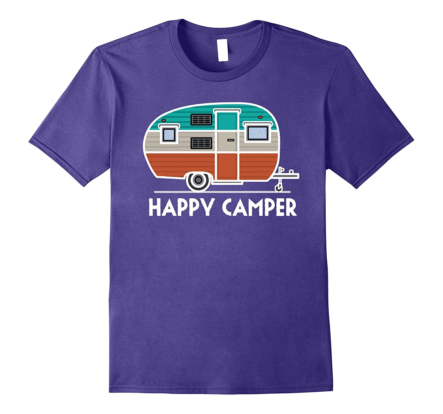 Happy Camper Camping Outdoor T-Shirt-BN