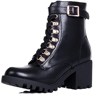 Sole Ankle Spylovebuy Heel Lace Cleated Women's Up WELWYN Block gq6f1nU