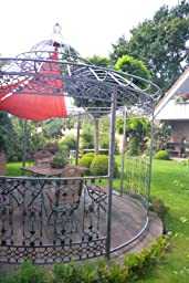 clp metall pavillon romantik rund 3 45. Black Bedroom Furniture Sets. Home Design Ideas