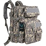 G4Free 40L Tactical Assault Backpack Water Resistant Army Molle Backpack Bug Out Bag Military Rucksack for Outdoor Hiking Camping Trekking Hunting