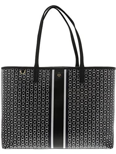 6f528f514cc Amazon.com  Tory Burch Gemini Link Tote in Black Gemini Link Stripe  Tory  Burch  Shoes