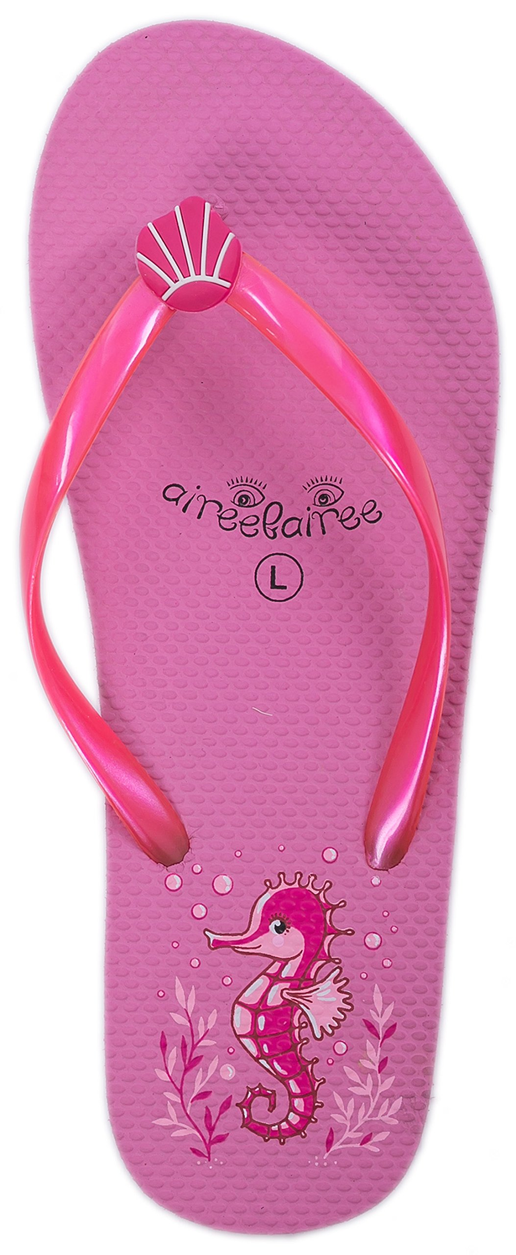 6e04d896d01f6d Flip Flops Womens Ladies Summer Beach Pool Shoes Seahorse Pattern product  image