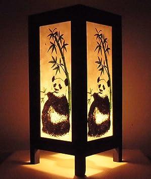 Thaï Tables De Par Style Thaïlande Lampe Asie Panda Bouddha Rare Chevet Beau kZTOPXiu