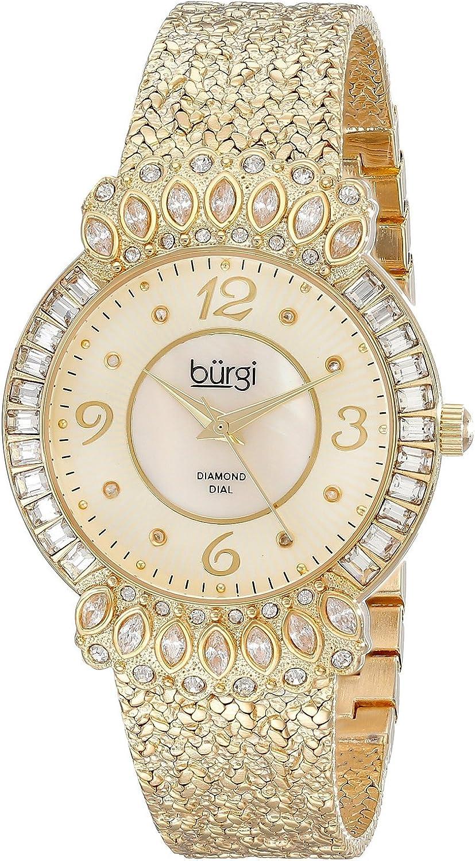 [バージ]Burgi 腕時計 GoldTone Watch with Textured Bracelet BUR120YG レディース [並行輸入品]