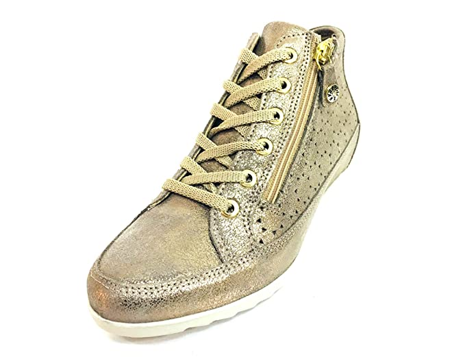 Enval soft 12559 Taupe Scarpa Donna Sneaker Zeppa Interna Pelle Made in  Italy  Amazon.de  Schuhe   Handtaschen 38492a19ebd
