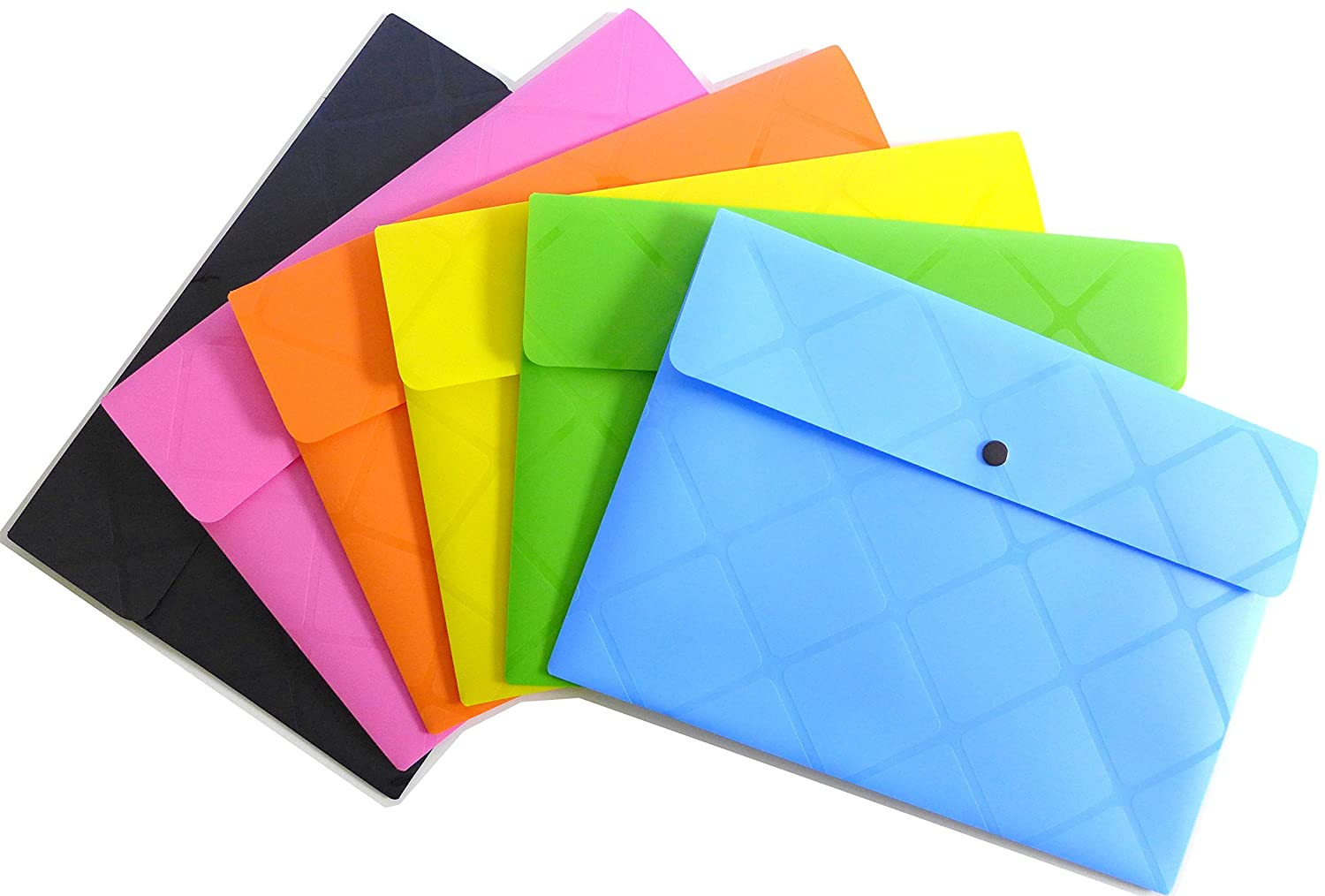 Off Cypress Lane Poly Envelopes With Snap Button Closure Set Of