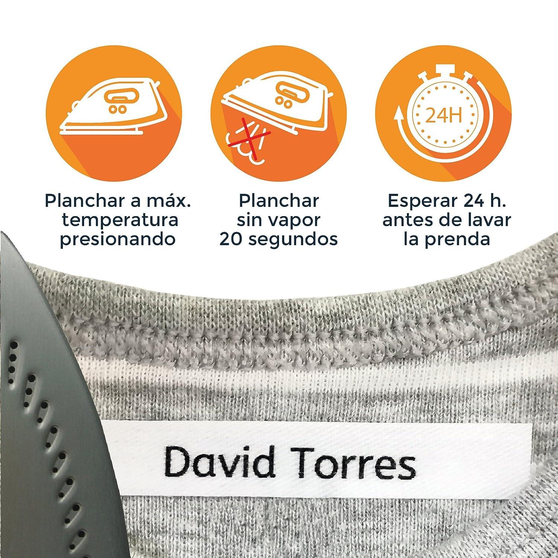 100 ETIQUETAS DE TELA PARA MARCAR LA ROPA (PLANCHAR) CINTA ...