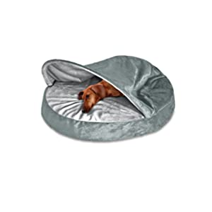 FurHaven Round Snuggery Burrow Pet Bed