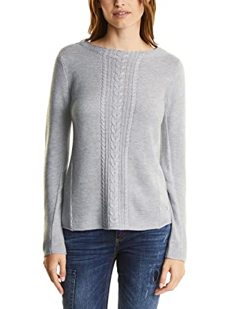 8cd9fa942eae5 Street One Women s Pullover with Cable Structure Mix Jumper  Amazon.co.uk   Clothing