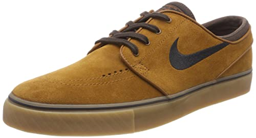 Nike Men's Zoom Stefan Janoski Skateboarding Shoes, Brown (Hazelnut/Black-Baroque  Brown
