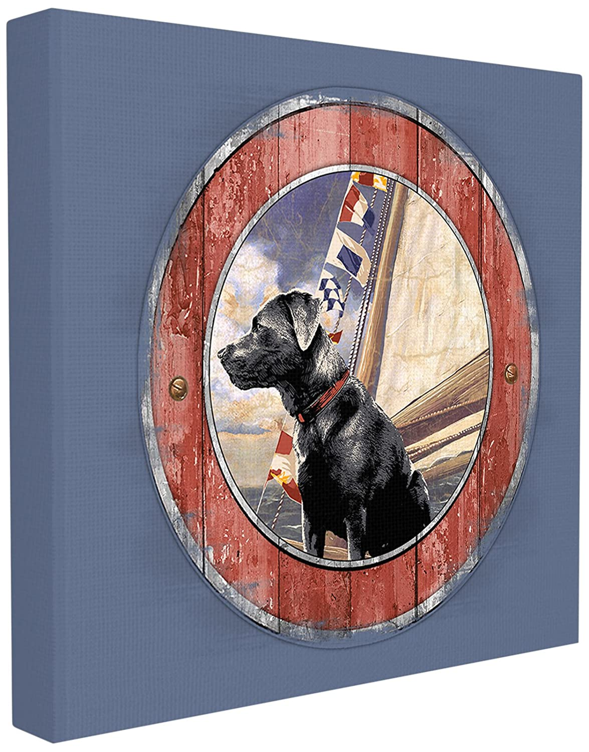 12 x 12 Multicolor The Stupell Home Decor Collection Seafaring Dog Wall Plaque Art