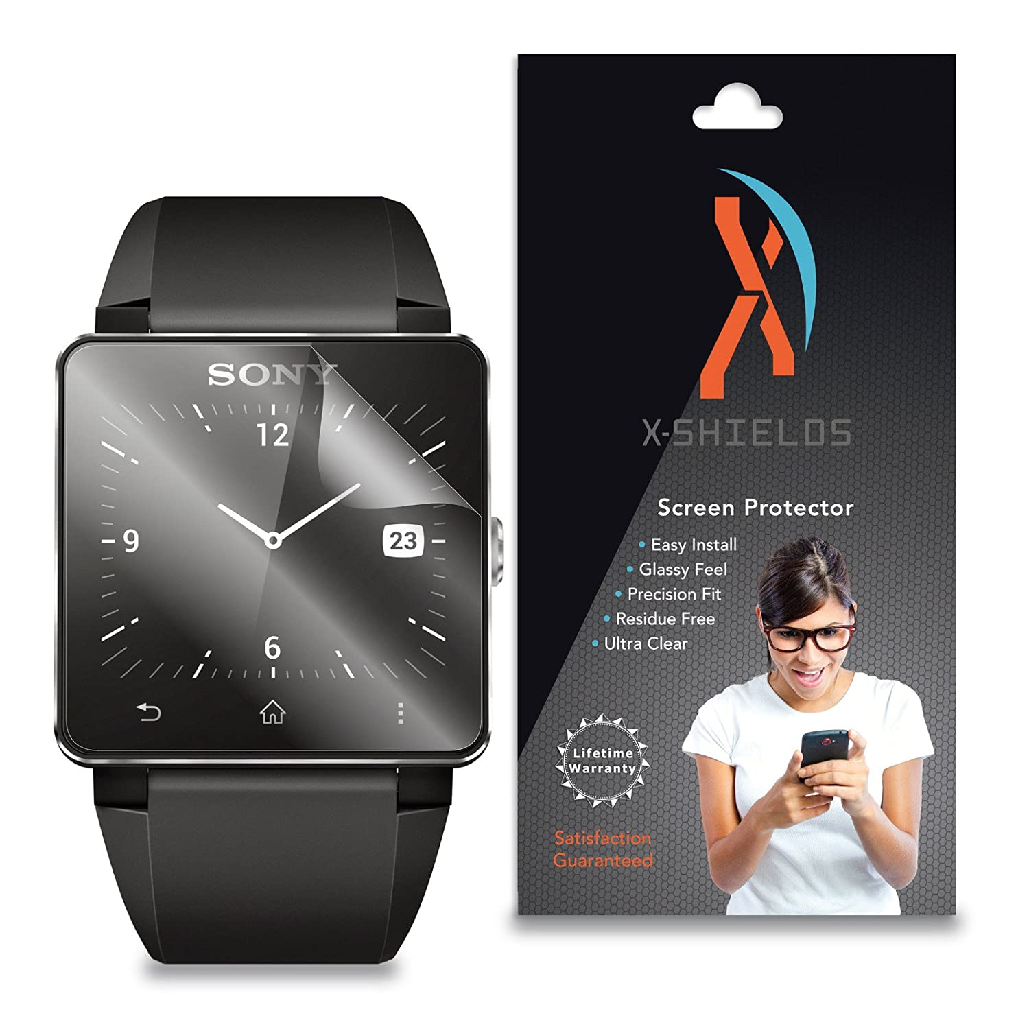 XShields© (3-Pack) Screen Protectors for Sony Smartwatch 2 SW2 (Ultra Clear)