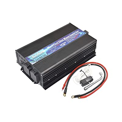 3000W Output Power Inverter with Dual sockets and USB, Modified sine Wave, Input DC12V or DC 24V Output 110V 60Hz. (24V): Car Electronics
