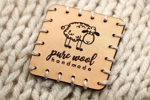 de madera Parte víctima  3DP Etiquetas Hand Made SQ01 Big Pure Wool - 15 Piezas - Etiquetas Hecho a  Mano Creaciones artesanales: Amazon.es: Hogar