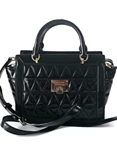 84681c2c718c MICHAEL Michael Kors Women s Vivianne Small Shoulder Shiny Leather Handbag  Messenger