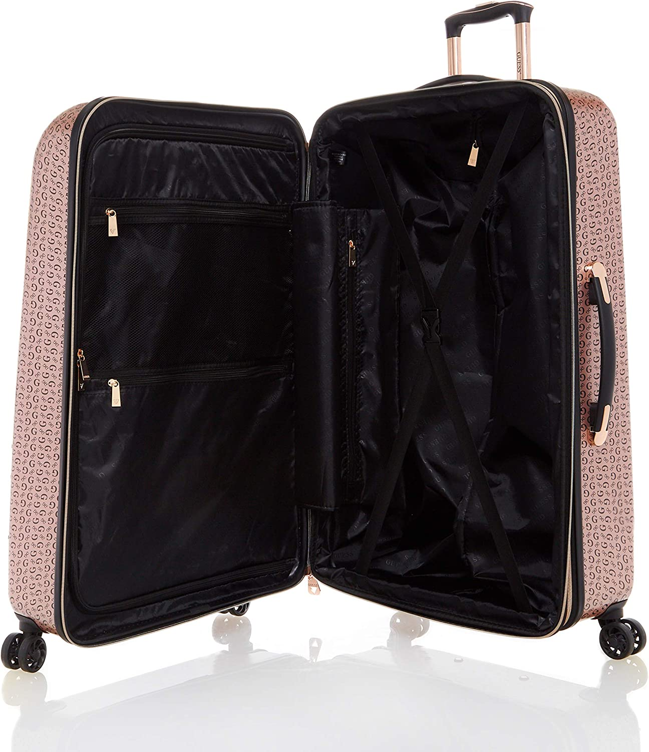 Guess Burnley Collection 28 8-Wheeled Spinner Hardside in Rose Gold