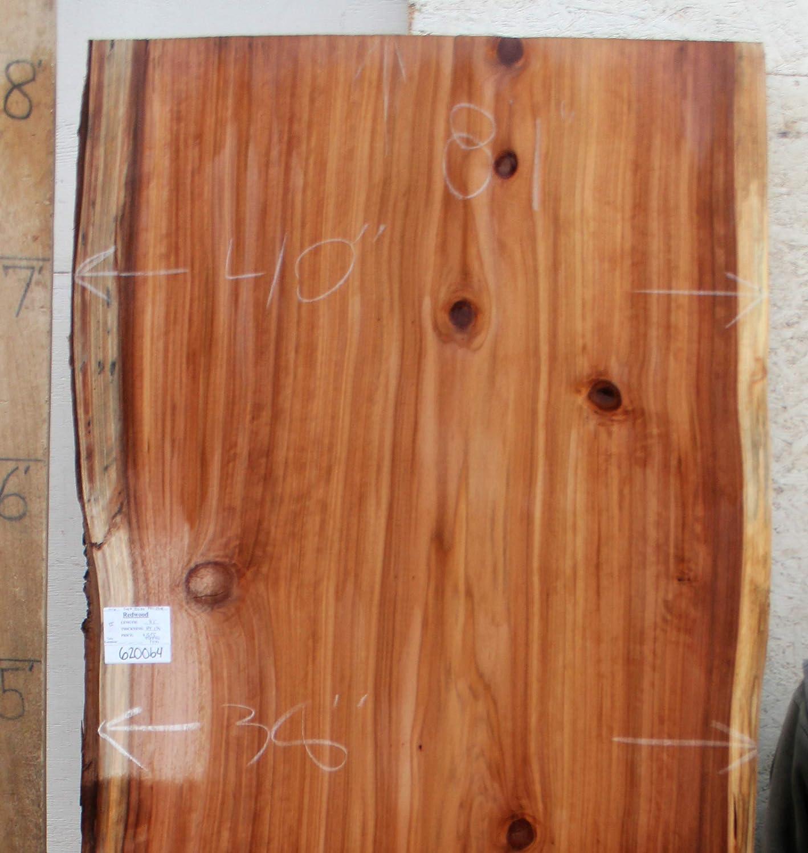 Amazon.com: Live Edge Dining Tabletop Natural Redwood Raw Wood Slab Kitchen  Island Custom Furniture Unique Desk Top DIY Table Unfinished Lumber 6200b4:  ...