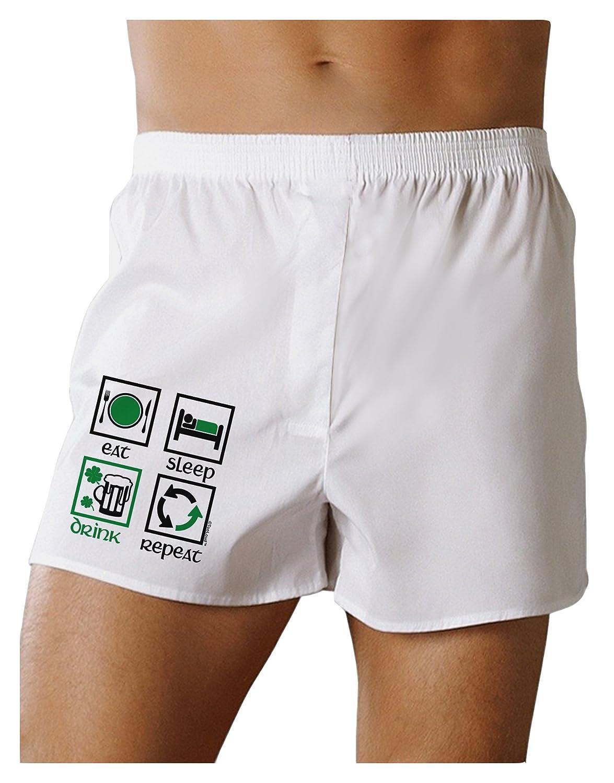 TOOLOUD Eat Sleep Drink Green Beer Repeat Boxers Shorts