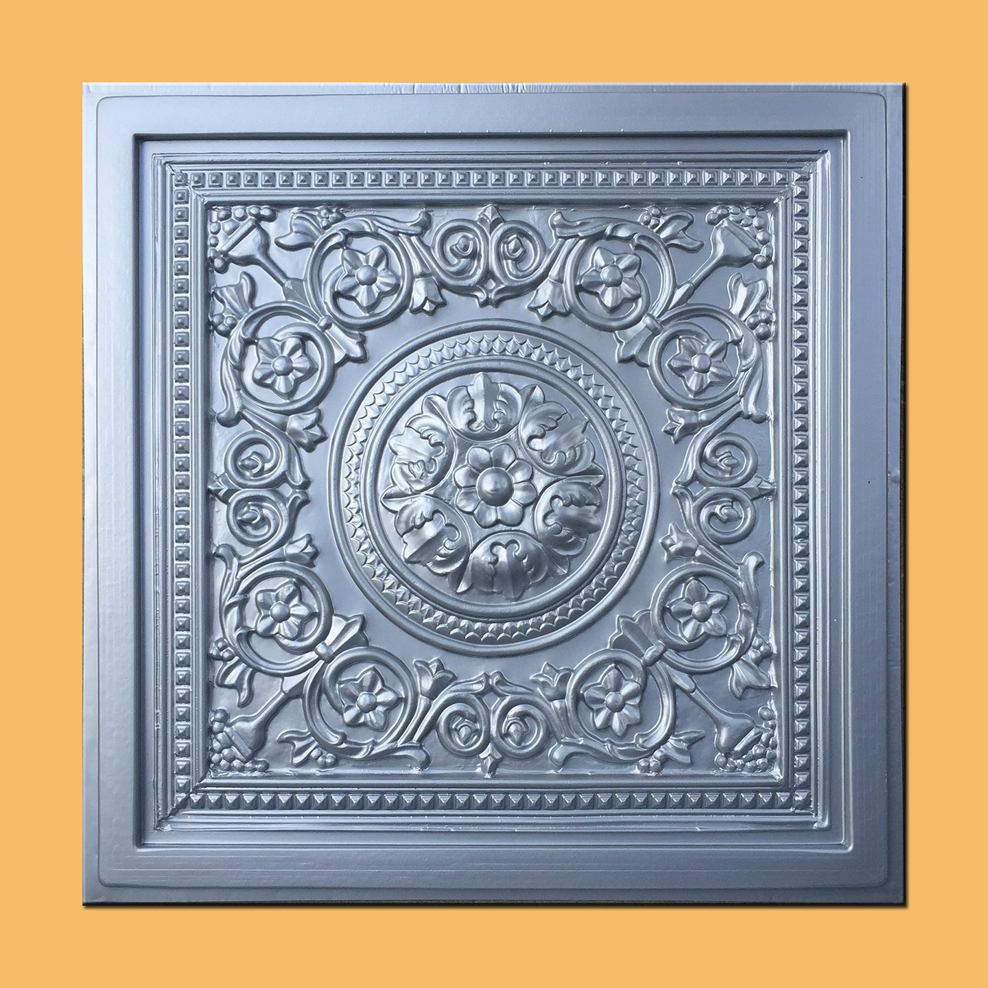 Majesty Silver (24x24'' Pvc) Ceiling Tile - Case of 30pc