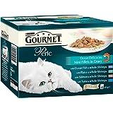 Purina Gourmet Perle de Wet pour chat, Mini filets en Sauce–Lot de 4