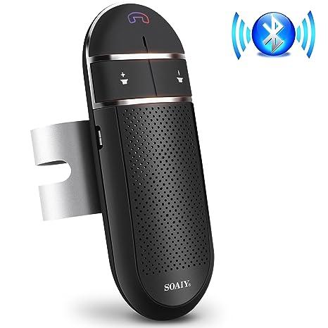 b66386b8bc6 SOIAY Wireless Bluetooth Car Speakerphone Kit  Hands Free Voice Command