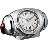 セイコー クロック ウルトラ RAIDENライデン大音量目覚まし時計 クオーツ ウルトラマン 銀色 メタリック CQ141S SEIKO