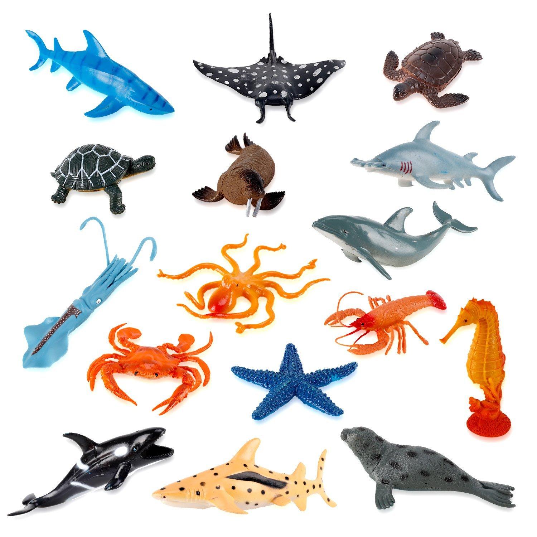 Japanese Kawaii Eraser Toys Iwako Sea Creatures Animals 3D ... |Sea Creature Erasers Toys