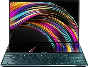 "ASUS ZenBook Pro Duo UX581GV-H2006T - Portátil de 15,6"" FullHD con ScreenPad Plus de 14"" (i7-9750H, 32GB RAM, 512GB SSD, GeForce RTX2060 6GB, Windows 10) Metal Azul Celeste - Teclado QWERTY español"