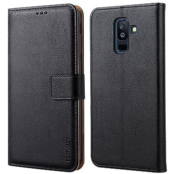 Peakally Funda Samsung Galaxy A6 Plus 2018, Premium Cuero PU Fundas para Samsung Galaxy A6 Plus 2018 Piel PU Carcasa Case con Concha Interna ...