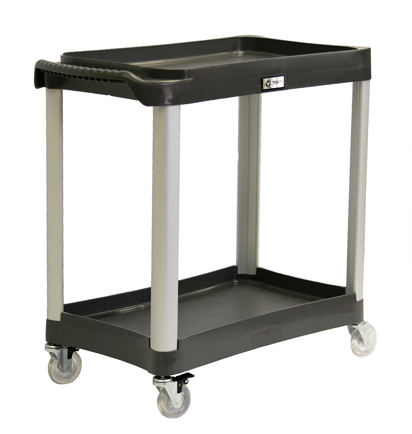 Etonnant Amazon.com: Trinity EcoStorage 2 Tier Commercial Grade Utility Cart, Black:  Home U0026 Kitchen